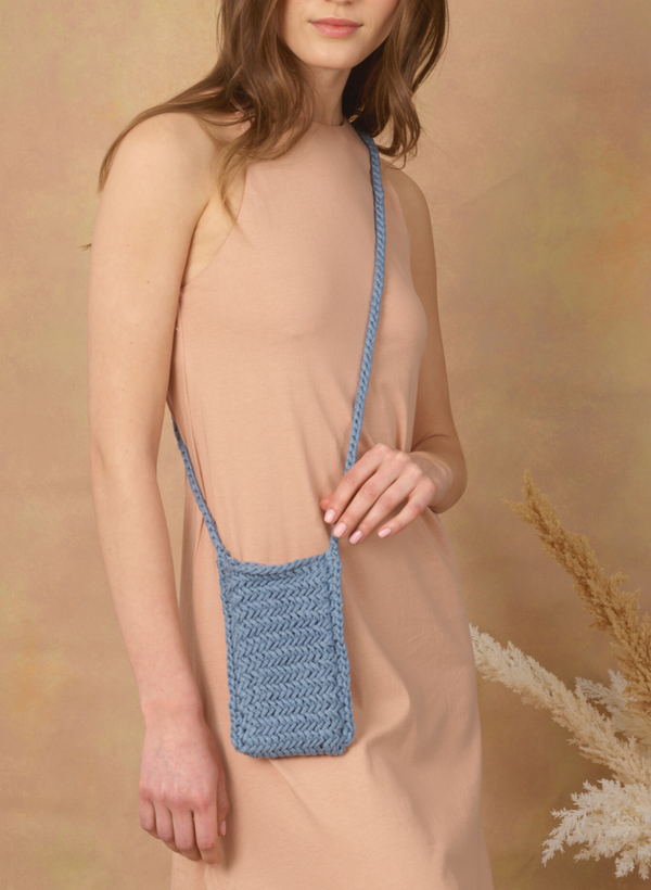 Made To Order: The Asbury - Herringbone iPhone Crossbody Bag