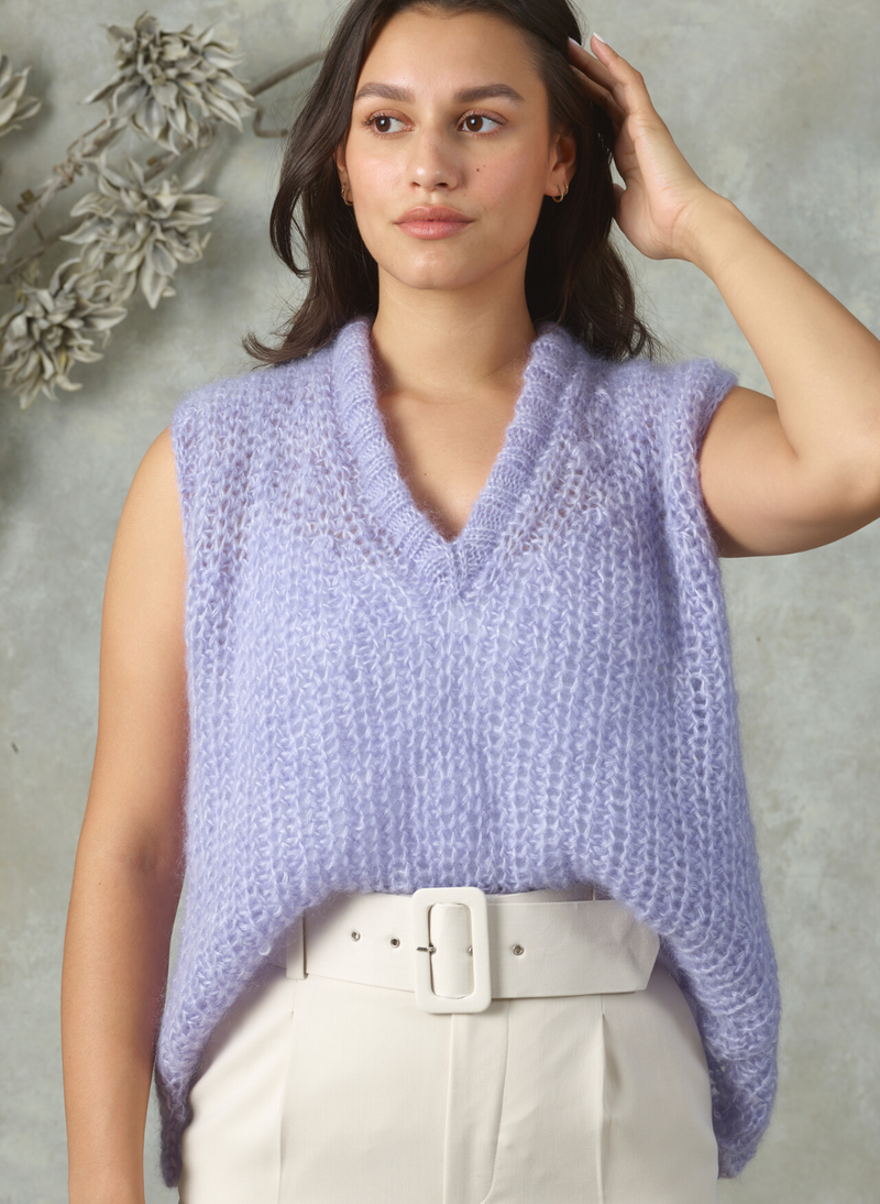 Made To Order: The Ava - Mohair V-Neck Vest