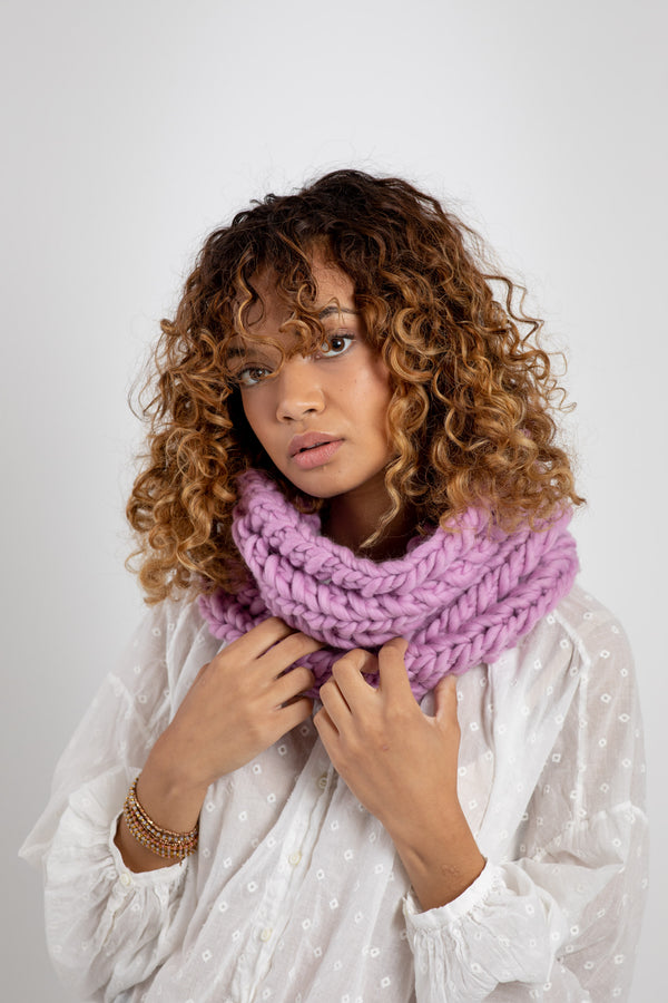 The Nantucket: Open Stitch Cowl - Intermediate Advanced Level Knit Kit
