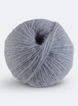 Fluffy Floss - Dove Grey - Italian Alpaca, Merino, Silk Blend