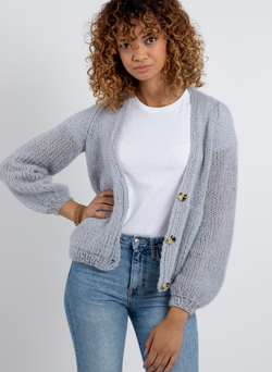 PATTERN: The Georgie - Cardigan in Fluffy Floss