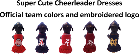 game day dogs cheerleader dresses