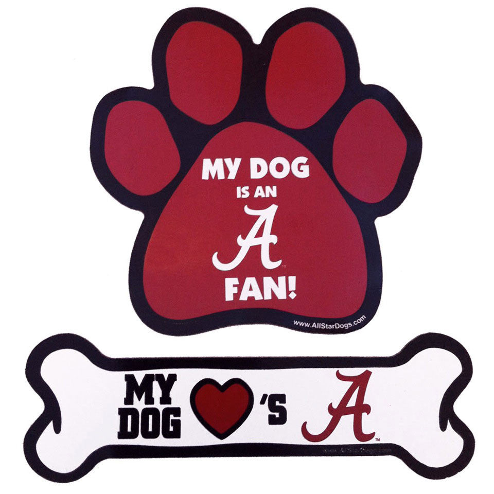 Alabama Crimson Tide Paw and Bone Magnet