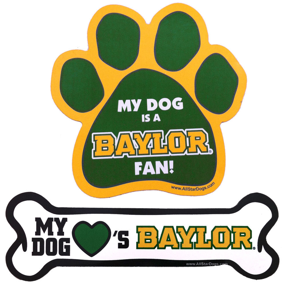 Baylor Bears Paw and Bone Magnet