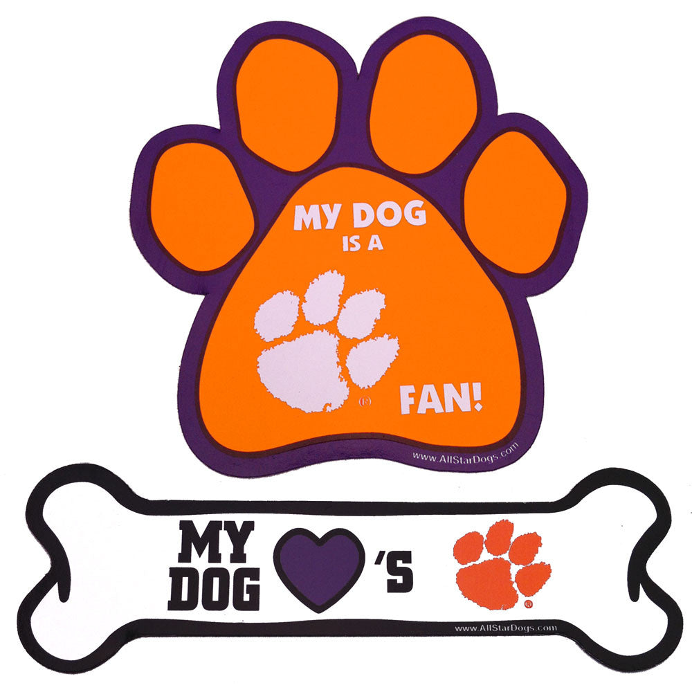 Clemson  Paw and Bone Magnet