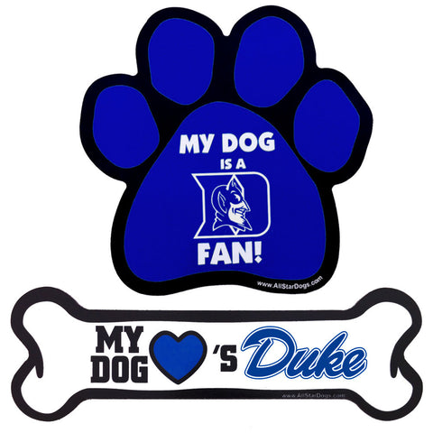 Duke Blue Devils Paw or Bone Magnet