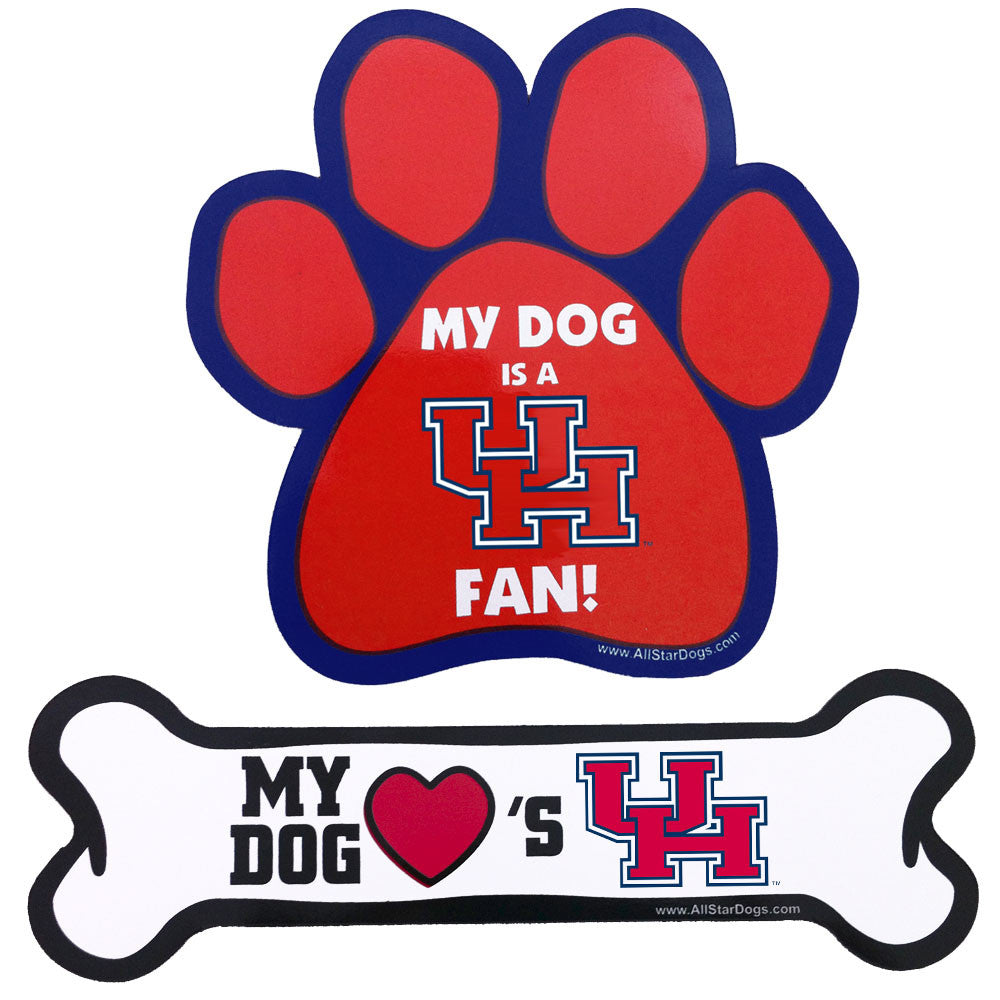 Houston Cougars Paw and Bone Magnet