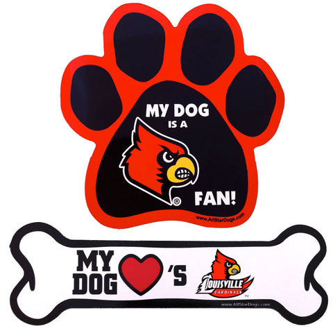 Louisville Cardinals Paw or Bone Magnet