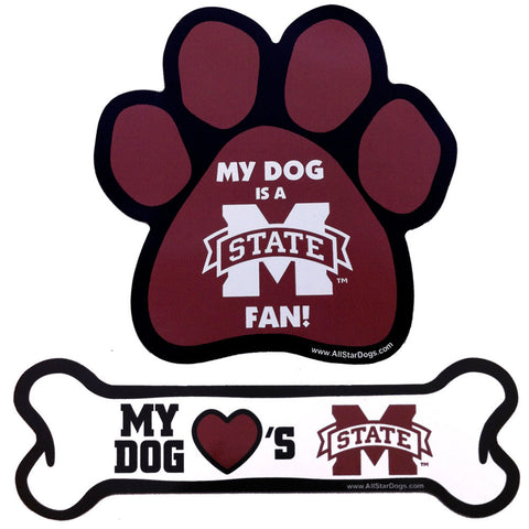 Mississippi State Bulldogs Paw or Bone Magnet