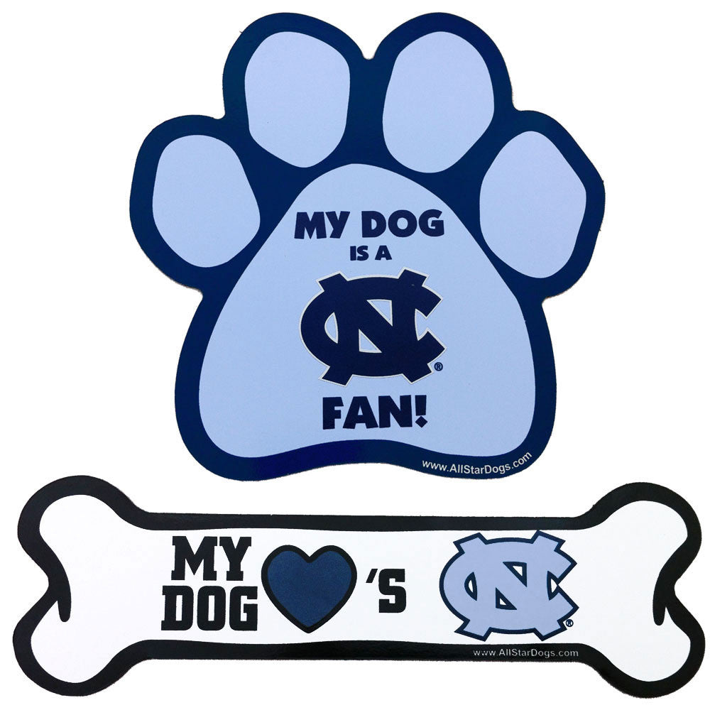 North Carolina Tar Heels Paw and Bone Magnet