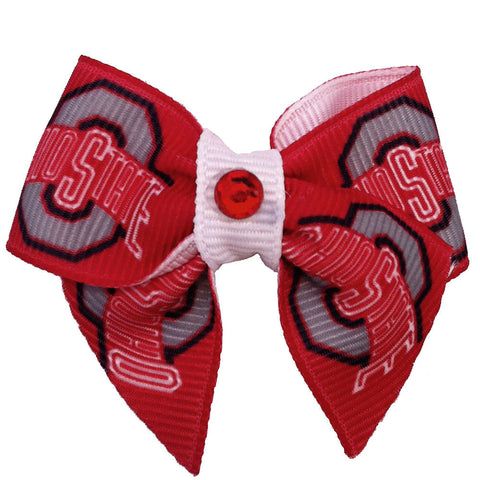 Ohio State University Dog Hair Bow