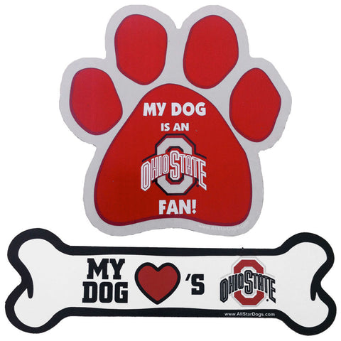 Ohio State Buckeyes Paw or Bone Magnet