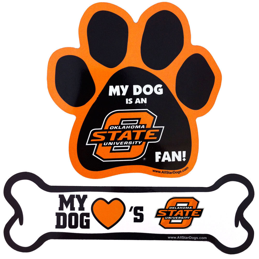 Oklahoma State Cowboys Paw and Bone Magnet