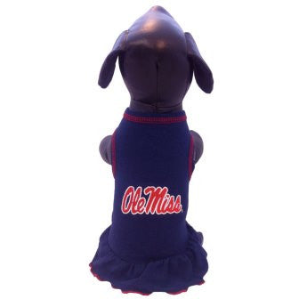 Ole Miss Rebels Cheerleader Dog Dress