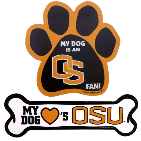 Oregon State Beavers Paw or Bone Magnet