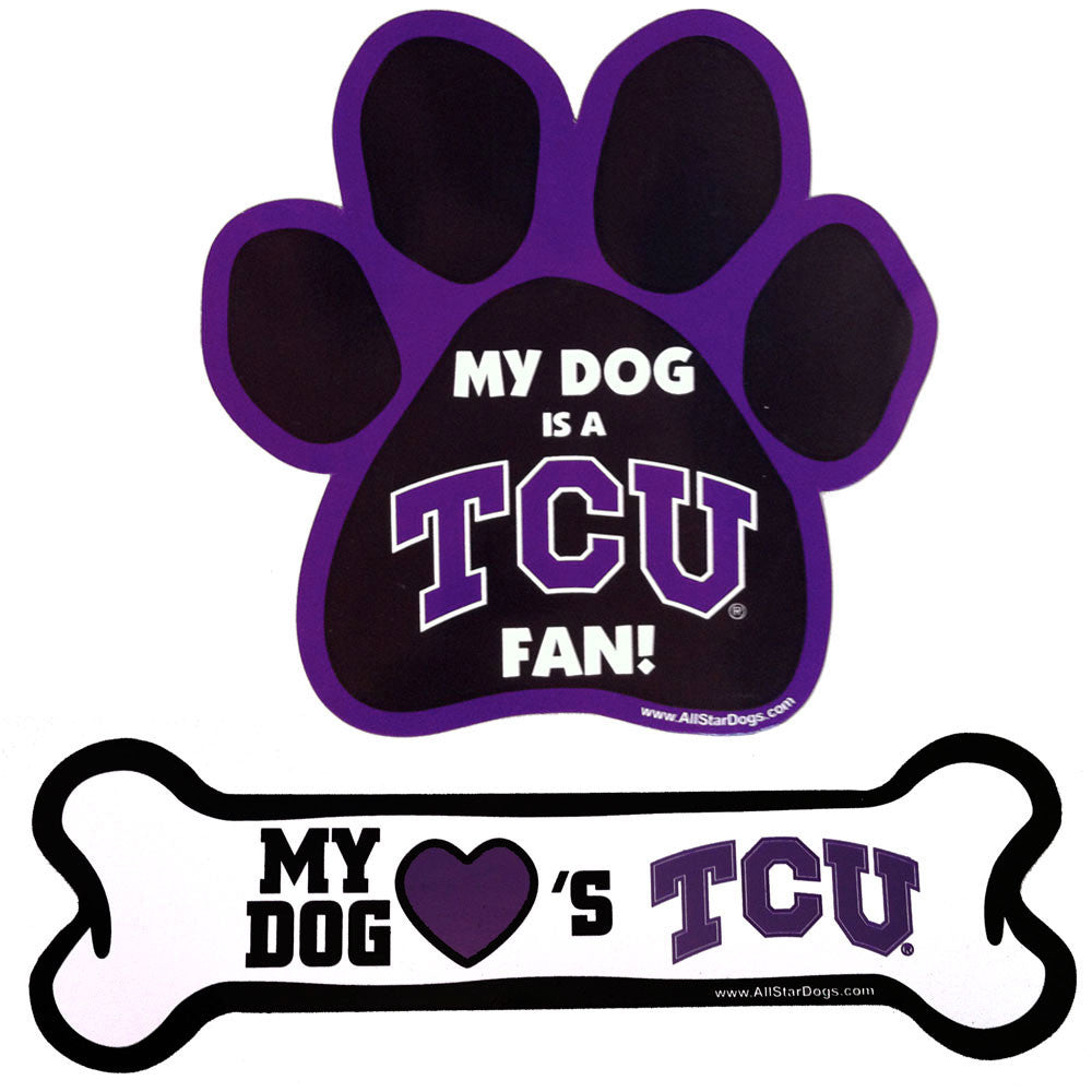 TCU Horned Frogs Paw and Bone Magnet