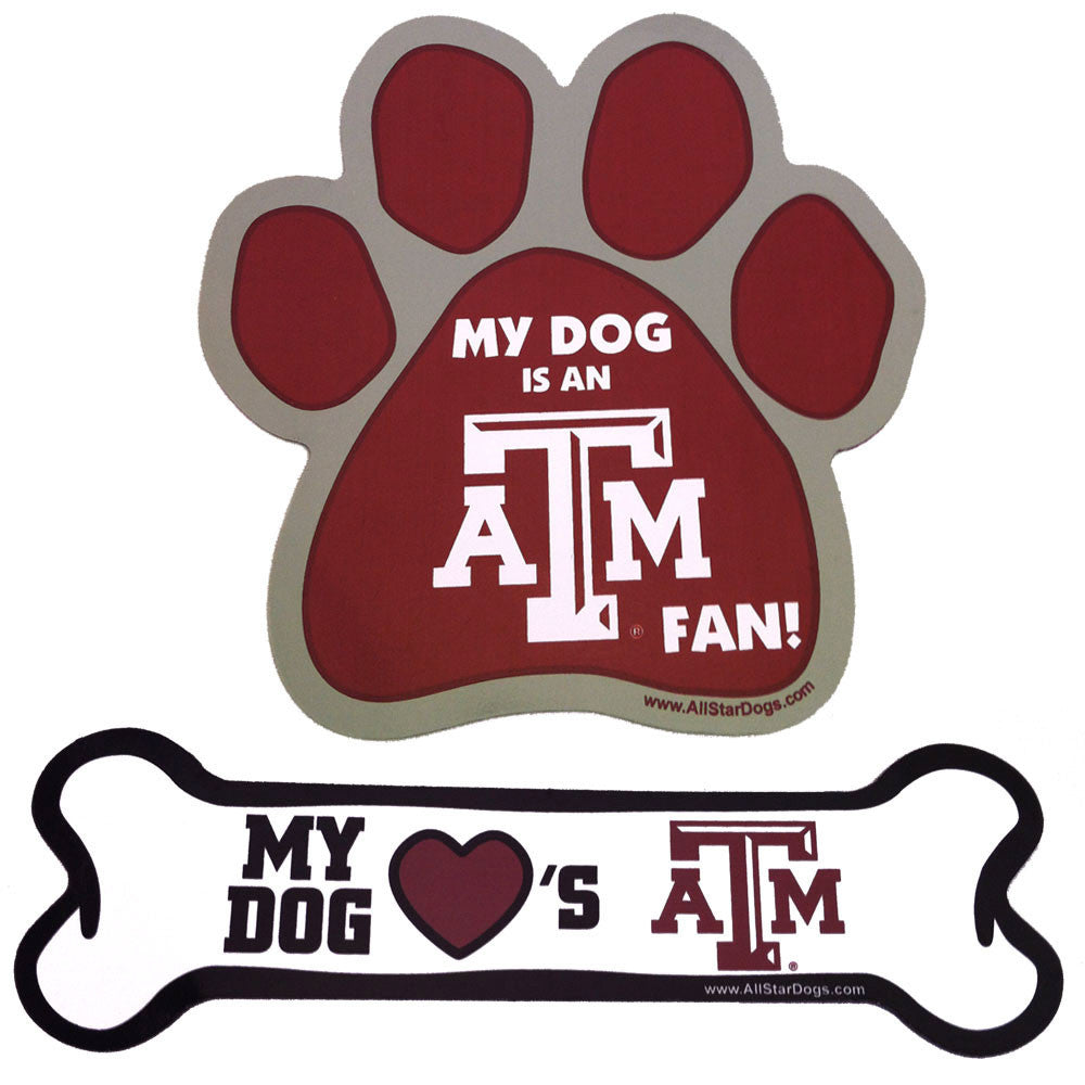 Texas A&M Paw and Bone Magnet