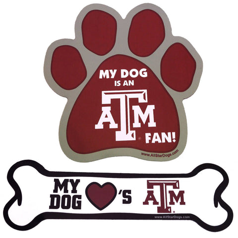 Texas A&M Aggies Paw or Bone Magnet