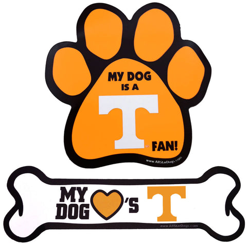 Tennessee Volunteers Dog Paw or Bone Magnet
