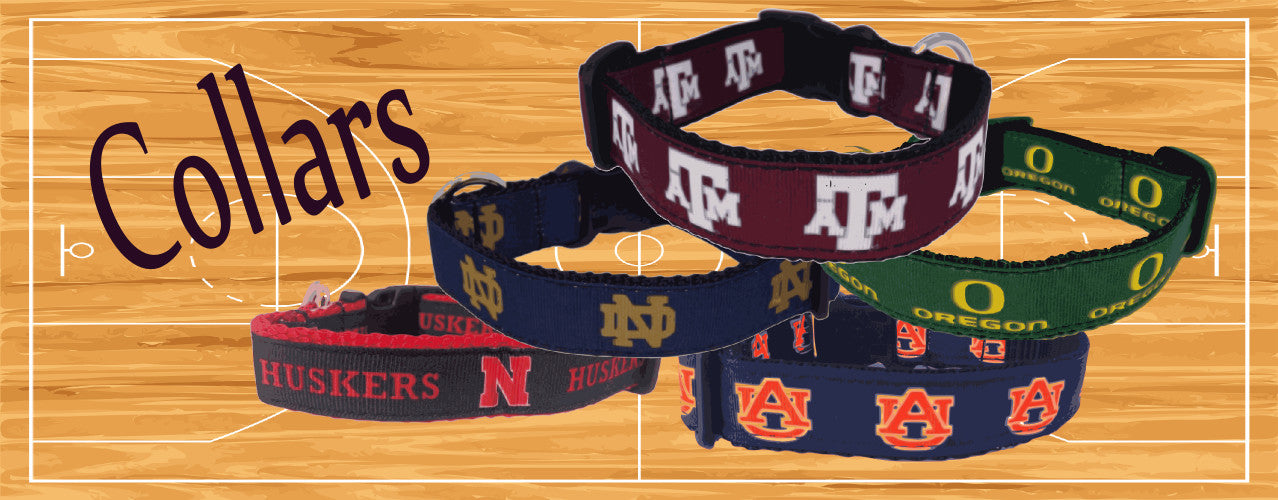 Officially licensed NCAA dog collars.