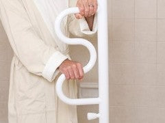 Curved Grab Bar for Security Pole