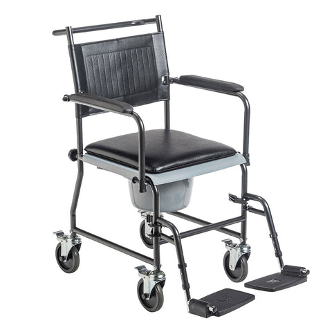 Drive Drop Arm Wheeled Commode w/Footrests