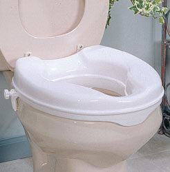 Savanah Raised Toilet Seat No Lid    AADL Equipment - Toilet seat with no lid