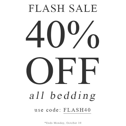 Flash Sale 40% Off Bedding