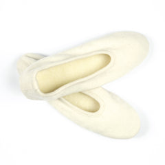 Wool Cashmere Blend Ballet Slippers -  - Nine Space