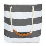 Oversize Stripe Waterproof Beach Tote
