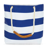 Oversize Stripe Waterproof Beach Tote -  - Nine Space