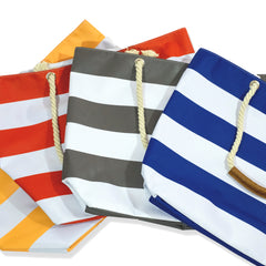 Oversize Stripe Beach Tote -  - Nine Space