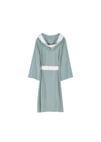 Knee Length Striped Jersey Knit Robe - Sleepwear & Robes - Nine Space
