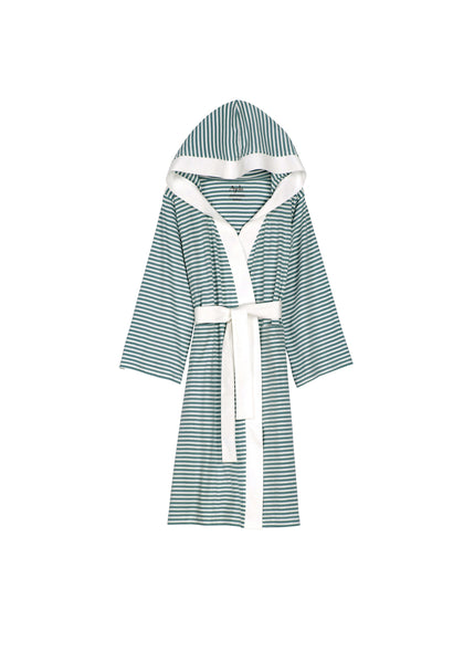 Knee Length Striped Jersey Knit Robe - Shopninespace - 10