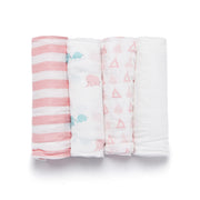 Elephant Bamboo Viscose Swaddle Set - Blankets & Throws - Nine Space