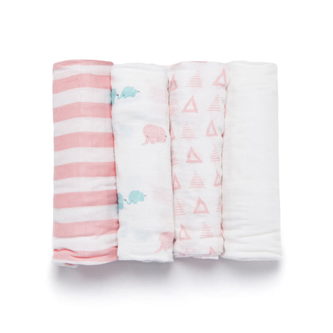 Bamboo Viscose Elephant Swaddle Set - Shirts - Nine Space