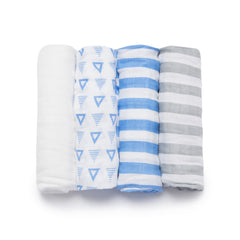 Striped Bamboo Viscose Swaddle Set - Bedding - Nine Space