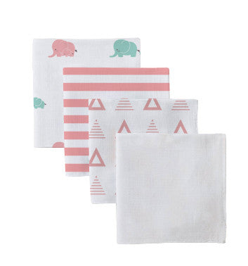 Cotton Muslin Elephant Swaddle Set - Shirts - Nine Space