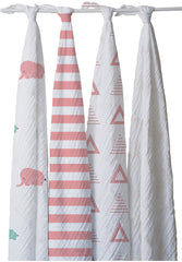 Cotton Muslin Elephant Swaddle Set - Blankets & Throws - Nine Space
