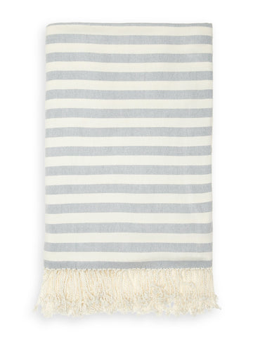 Striped Bamboo Viscose Throw - Blankets & Throws - Nine Space