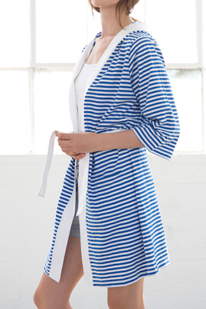 Striped Jersey Knit Robe
