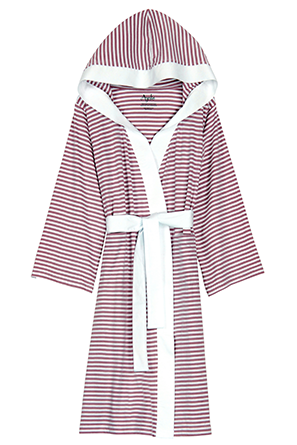 Organic Cotton Striped Robe - Sleepwear & Robes - Nine Space