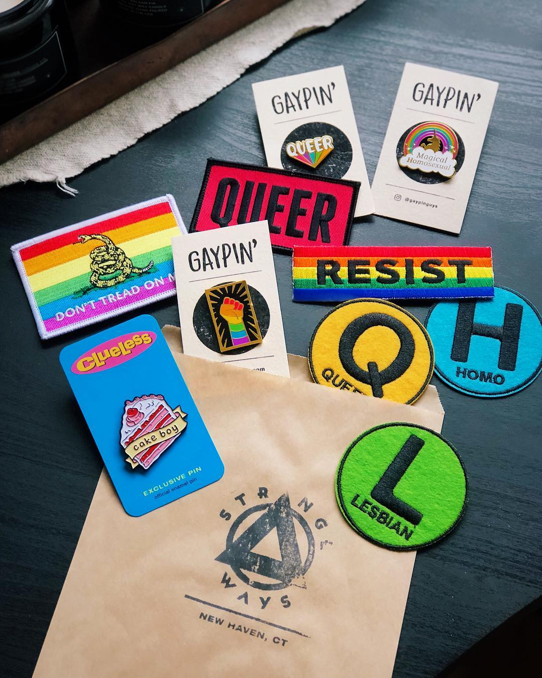 07b2685245b Shop LGBT, queer, and gay pride pins, patches, ...