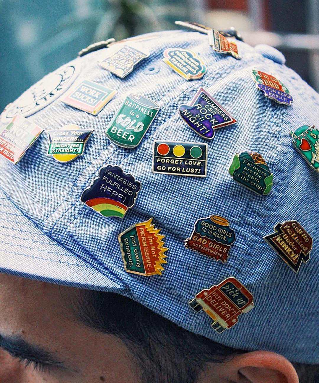 Pins On Beanies: Vintage Pins + Patches