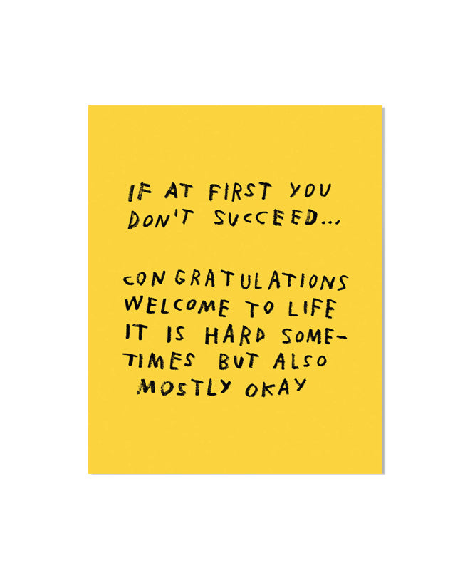 If At First You Don't Succeed... Art Print-Adam J. Kurtz-Strange Ways