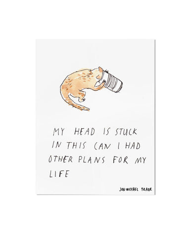 Can Cat Art Print