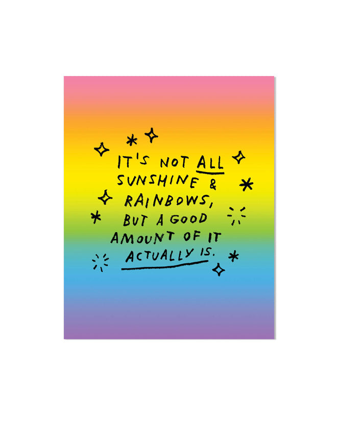Sunshine & Rainbows Art Print-Adam J. Kurtz-Strange Ways