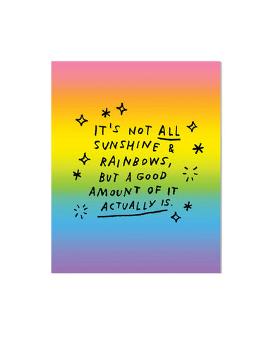 Sunshine & Rainbows Art Print