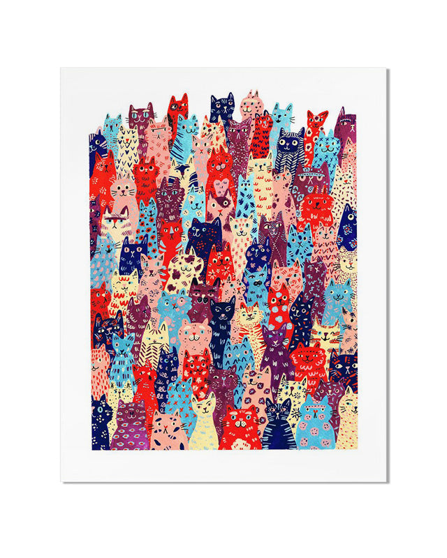 Cat Club Art Print-Cactus Club Paper-Strange Ways