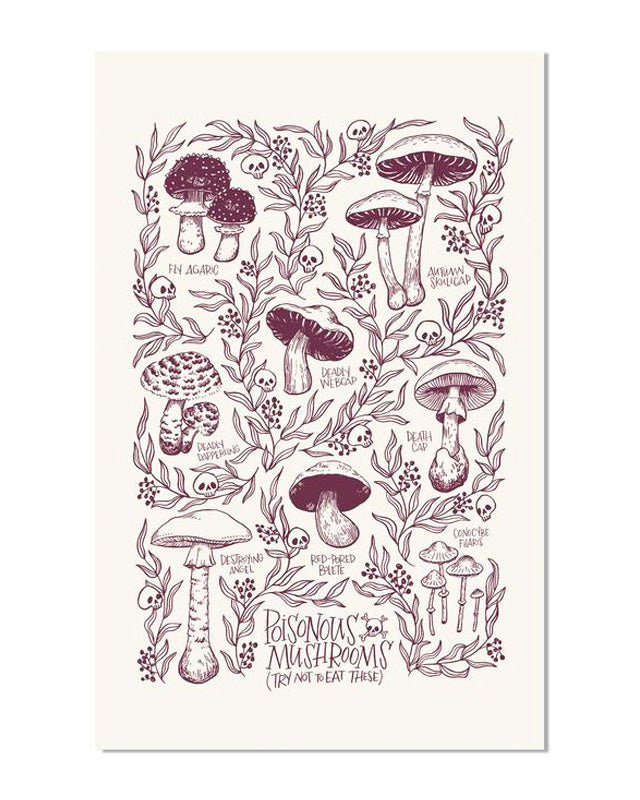 Poisonous Mushrooms Art Print-Frog and Toad Press-Strange Ways